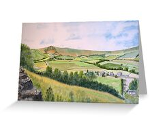 Mam Tor. Peak district.  by John Rees Greeting Card