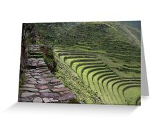 Path to an Andean  Wonder Greeting Card