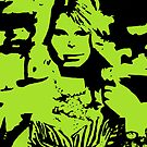 Taylor Swift Lime Green Artwork  by Double-T