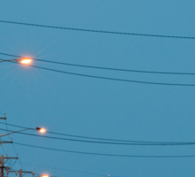 Moon over Lightning Ridge Sticker