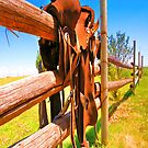 Fence Saddle iPad Case by ipadjohn