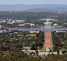 Canberra from Mt Ainslie by Timothy John Keegan