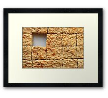 cheesecake cut into portions Framed Print