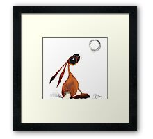 MOONGAZING HARE Framed Print