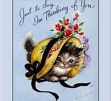 Thinking of You Greeting Card by Yesteryears
