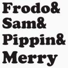 Frodo&Sam&Pippin&Merry by cabilo
