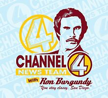 Channel 4 News Team with Ron Burgundy ipad by SykoGraphx