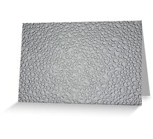 Water Droplets on Tempered Glass Greeting Card