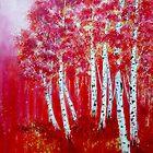 Red Trees by Rayne van Sing