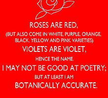 roses are red, violets are violet. by macliam