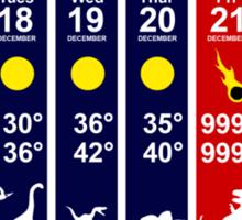 Dinosaur Extinction Weather Forecast Sticker