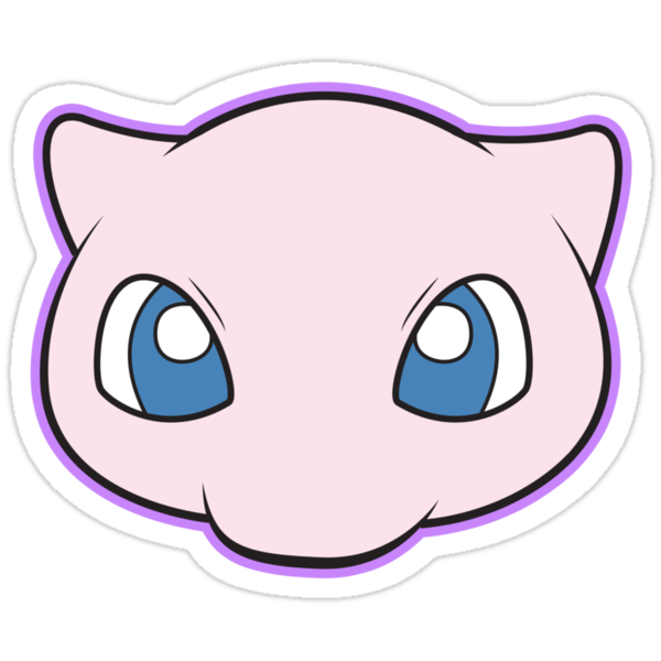 Mew Pokemon Minimal Design First Generation Sticker Shirt by Jorden Tually