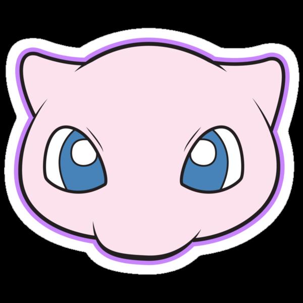 Mew Pokemon Minimal Design First Generation Sticker Shirt by Jorden Tually