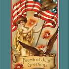 Vintage Independence Day Greetings by Yesteryears
