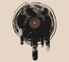 Cool Melting Vinyl Records Vintage Music T-Shirt by Denis Marsili