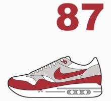 Air Max 87 Red by bobbydanger