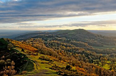 Malvern Hills, a southward view by crisscross