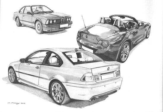 BMW 3 series (E46), 6 Series (E24) & Z4 Roadster (E85) by Steve Pearcy