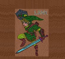 Link with Sword and Shield by ChrisNeal