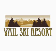 snow Vail ski resort truck stop novelty tee by Tia Knight