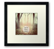 was lost but now am found Framed Print