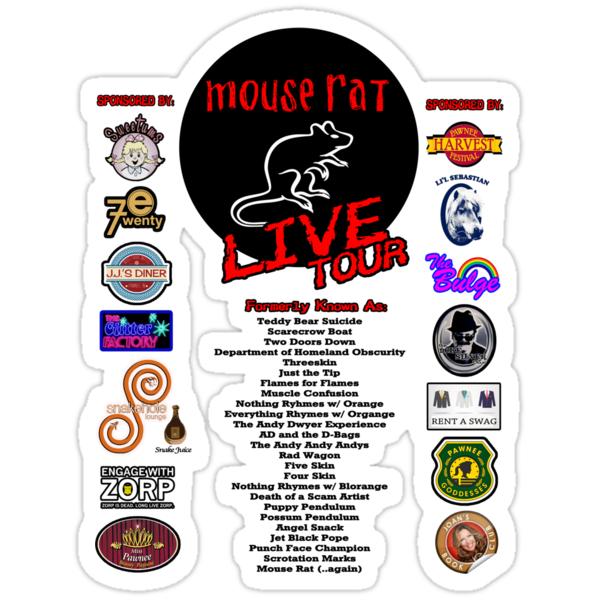 NEW Mouse Rat (Live Tour Edition) Plus Pawnee Sponsors & Former Band Names! by TeeHut