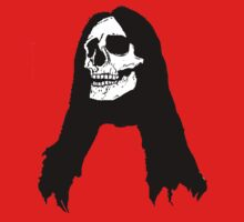 Long Haired Skull by PaperWolf