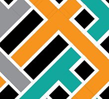 Overlap (Black/Teal/Orange/Grey) by Mark Omlor