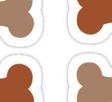 Lil Bones {Small} Shades of Brown Sticker Set Sticker