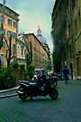 Rome Street Bikes by Mary Campbell