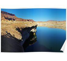 Coloured rocky shore of Colorado River Poster