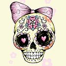 Yellow Sugar Skull by Ella Mobbs