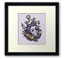Purple Severed Anchor Head Framed Print