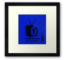 Weapon of mass distraction  Framed Print