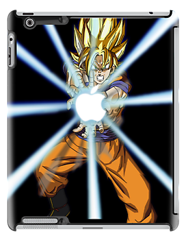 Dragonball Z Goku Kamehamapple by kevinlartees
