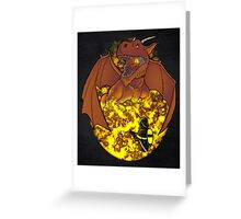 The Fire: an epic fight. Greeting Card
