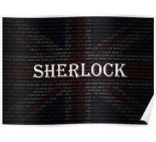 Sherlock Holmes Flag Poster