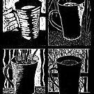 Seasons of Coffee - woodcut by summercountry