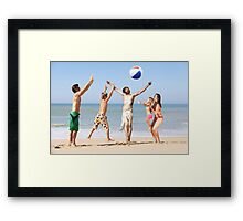 Jesus Playing On The Beach Framed Print