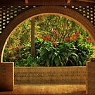 Tropical Garden Arch by Kathy Baccari