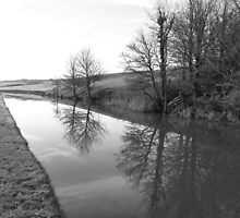 Winter reflections on the Bude Canal by Wonkstar