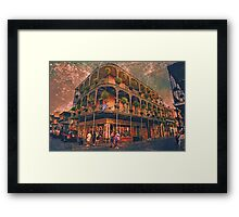 Saint Philip and Royal streets in French Quarter New Orleans Framed Print