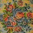 Pastel Tones Vintage Rustic Roses Pattern by artonwear
