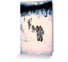Soldiersin the Arctic Circle Greeting Card