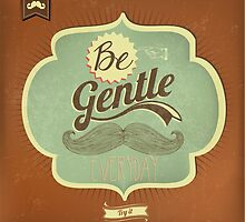 Vintage Mustache Calligraphic And Typographic Background by csecsi