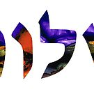 Shalom 6 - Jewish Hebrew Peace Letters by Sharon Cummings