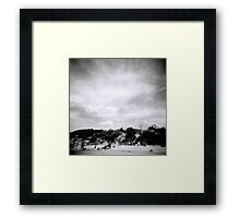 The cool change is coming Framed Print