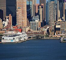 New York City Docks on the Hudson by Frank Romeo