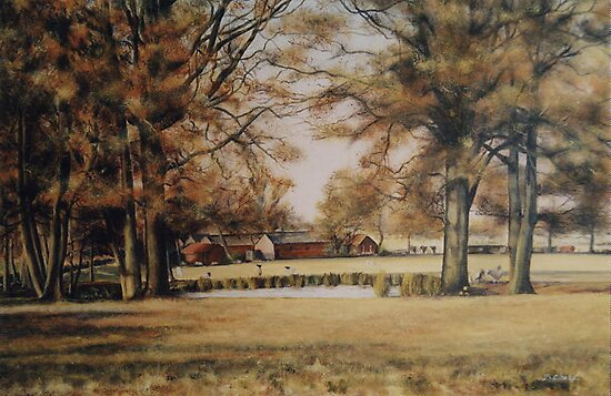 Winter near Pluckley in kent by Beatrice Cloake