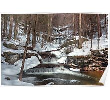 Waters Meet In Winter Poster